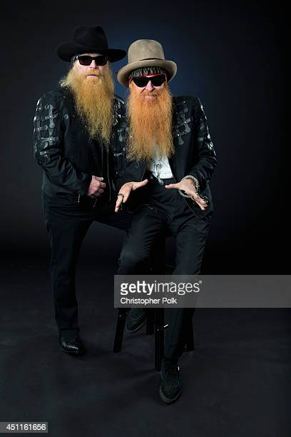 Rock band ZZ Top is photographed at the CMT Music Awards portriat studio on June 4 2014 in Nashville Tennessee