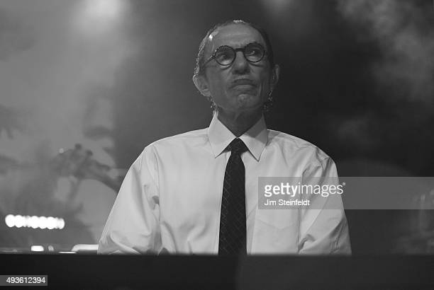 Rock bands Franz Ferdinand, and Sparks combine to form the band FFS, Ron Mael performs at The Observatory in Santa Ana, California on October 14,...