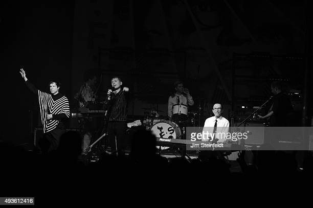Rock bands Franz Ferdinand, and Sparks combine to form the band FFS Russell Mael, Nick McCarthy, Alex Kapranos, Paul Thomson, Ron Mael, Bob Hardy...