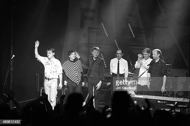 Rock bands Franz Ferdinand, and Sparks combine to form the band FFS Nick McCarthy, Russell Mael, Alex Kapranos, Ron Mael, Paul Thomson, Bob Hardy...