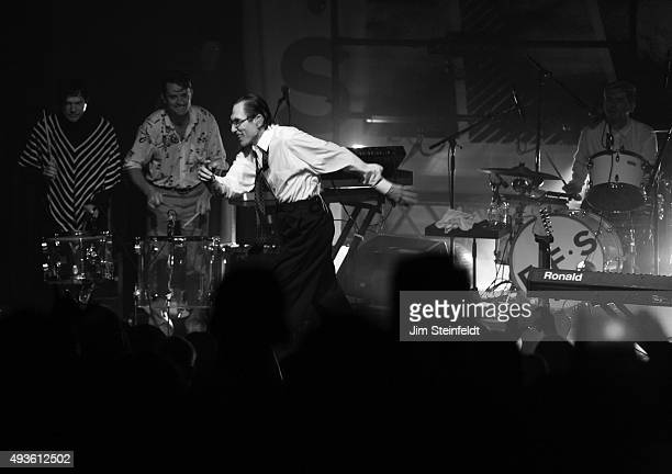 Rock bands Franz Ferdinand, and Sparks combine to form the band FFS Russell Mael, Nick McCarthy, Ron Mael, Paul Thomson, perform at The Observatory...