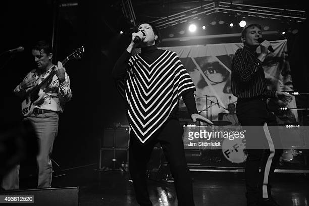 Rock bands Franz Ferdinand and Sparks combine to form the band FFS Nick McCarthy Russell Mael Paul Thomson Alex Kapranos perform at The Observatory...