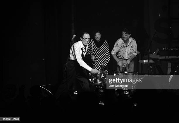 Rock bands Franz Ferdinand, and Sparks combine to form the band FFS Ron Mael, Russell Mael, Nick McCarthy perform at The Observatory in Santa Ana,...