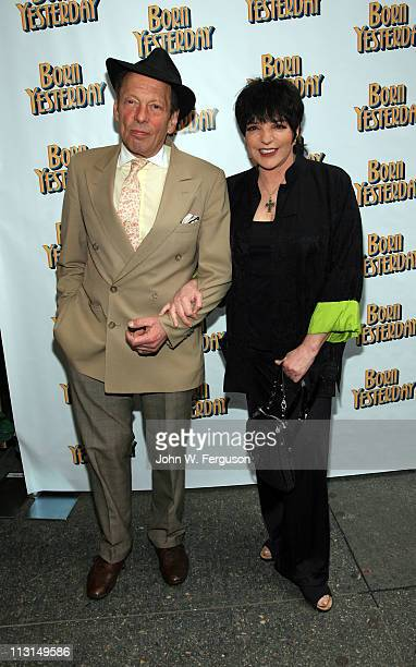 Rock Brynner and Liza Minnelli attend the Born Yesterday Broadway opening night>> at the Cort Theatre on April 24 2011 in New York City