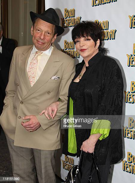 Rock Brynner and Liza Minnelli pose at The Opening Night of Born Yesterday on Broadway at The Cort Theatre on April 24 2011 in New York City