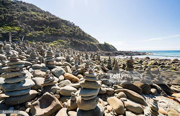 Rock cairns, Great Ocean Road, Victoria