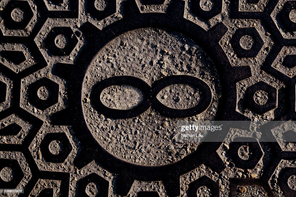 Rock Carving Of Infinity Symbol Stock Photo Getty Images