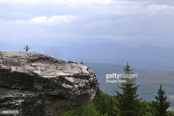 Rock cliff at Appalachian Mountains