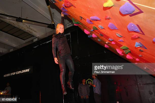 Rock climber Emily Harrington attends The North Face event celebrating the company's 50th anniversary and debuting its global brand campaign at the...