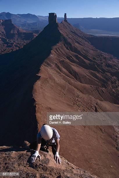 Rock Climber in Canyonlands National Park