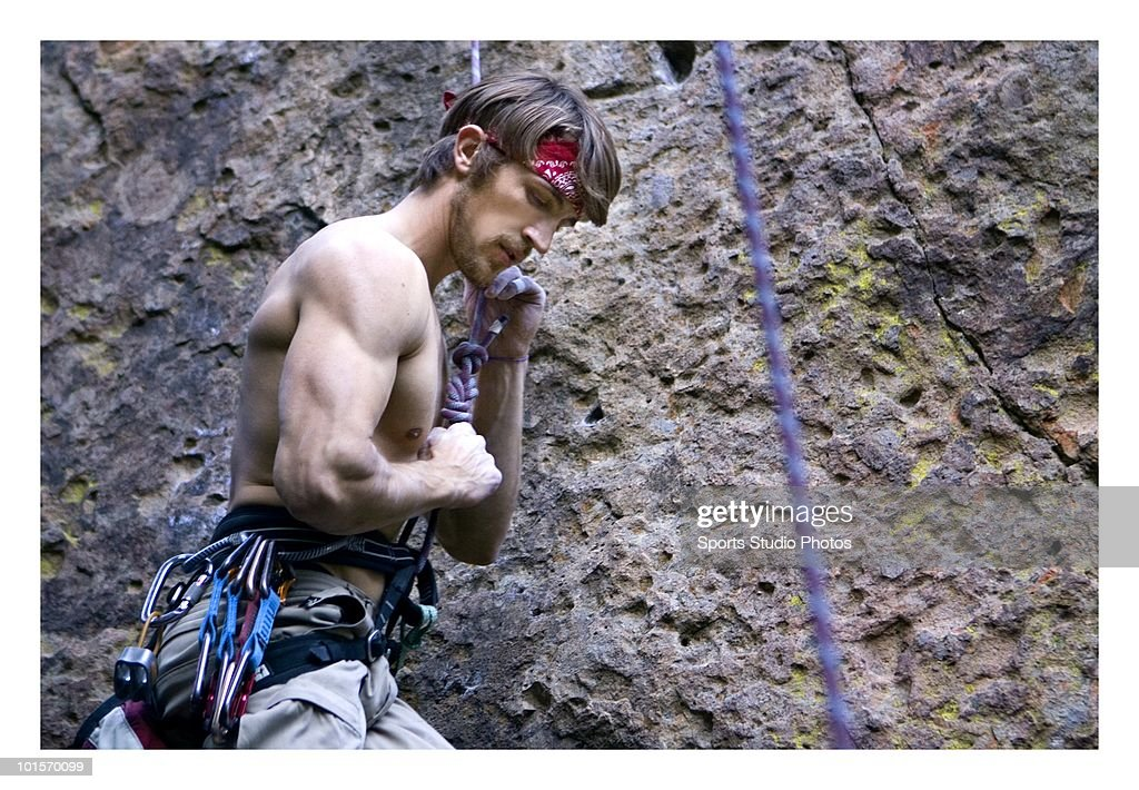 Rock climber photographed circa 2009 in Southern, California.