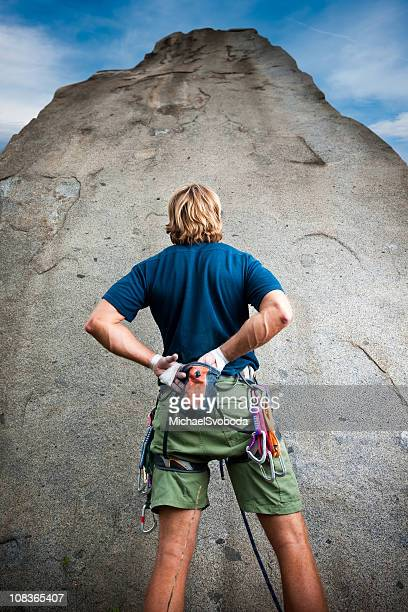 rock climber - rock overhang stock photos and pictures