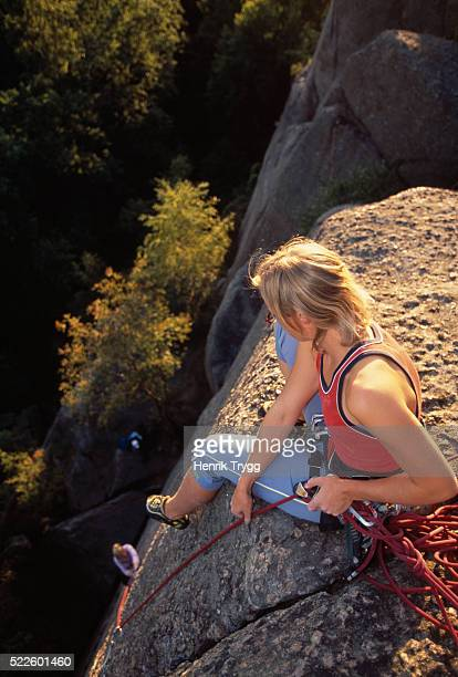 rock climber - västra götaland county stock pictures, royalty-free photos & images