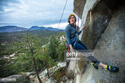 Rock Climber Taking a Rest