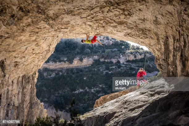 Escaladores en Rodellar Aragón España