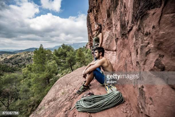 Rock climbers in Siurana Catalonia