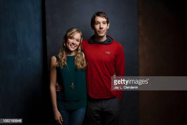Rock climbers Sanni McCandless and Alex Honnold from 'Free Solo' are photographed for Los Angeles Times on September 10 2018 in Toronto Ontario...