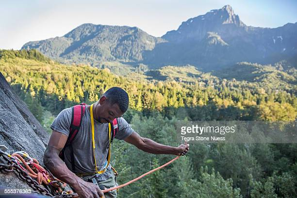 Rock climbing in Index