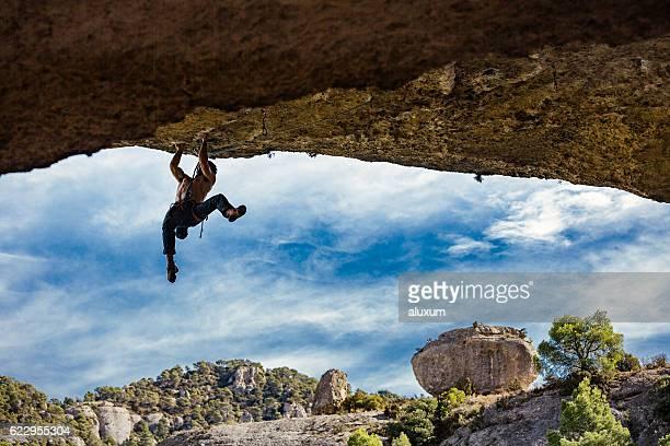 Rock climbing in Maragalef Catalonia Spain
