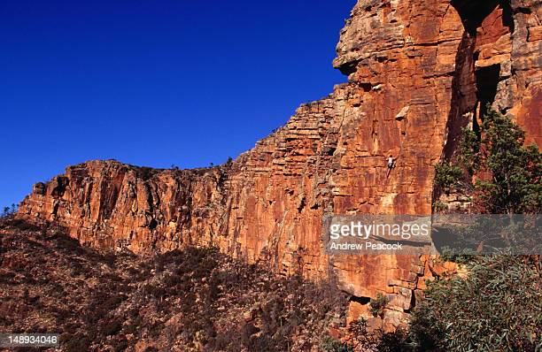 Rock climbing on the Moonarie cliffs.