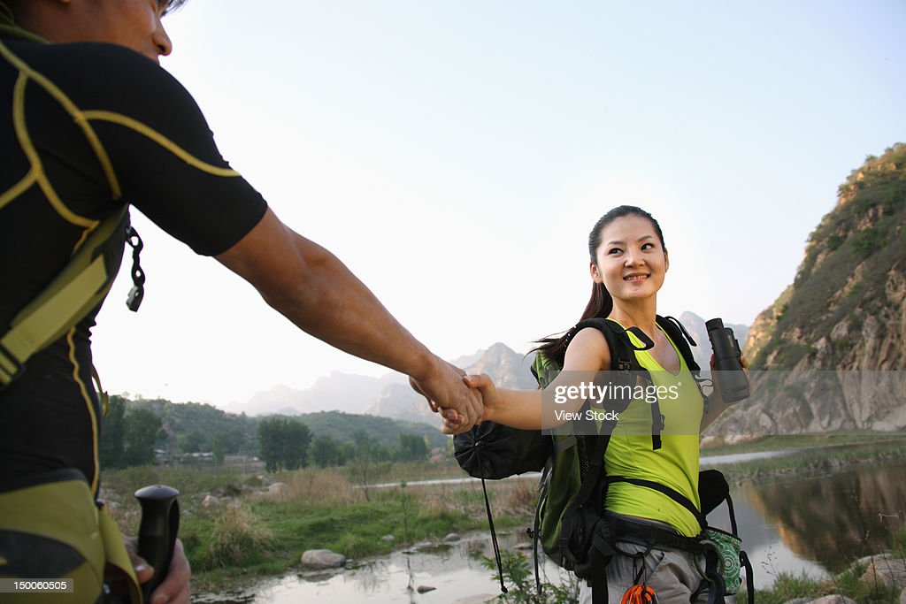 Rock climbing : Stock Photo