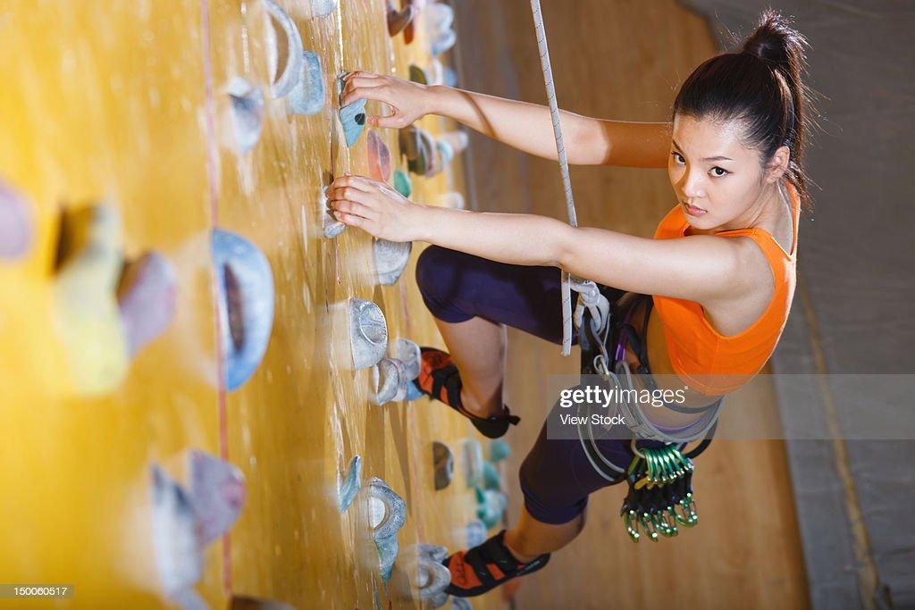 Rock climbing : Foto de stock