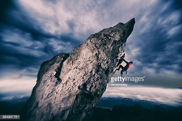 rock climbing - grip film crew stock photos and pictures