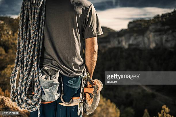 rock climbing - climbing equipment stock pictures, royalty-free photos & images