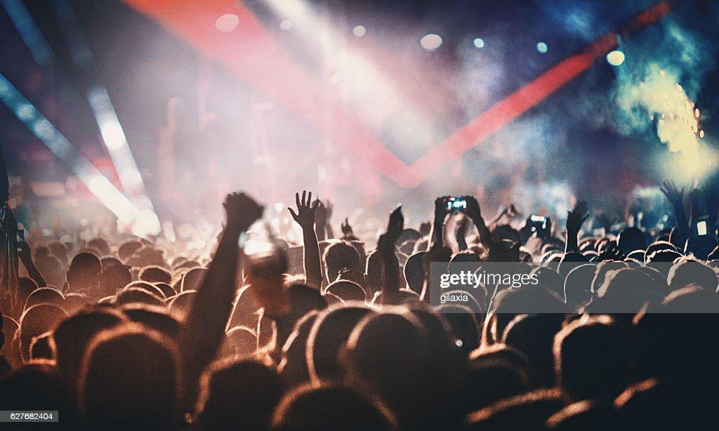 Rock concert. : Stockfoto