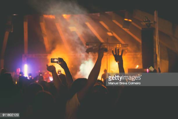 rock concert - metal music stock photos and pictures