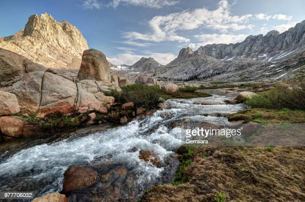 rock creek and mount mcadie in the miter basin, sequoia national park, california, america, usa - sequoia national park stock pictures, royalty-free photos & images