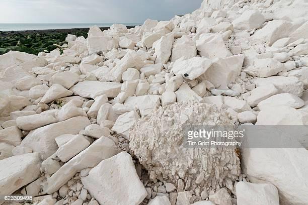 Rock Fall Debris, Seven Sisters Chalk Cliffs