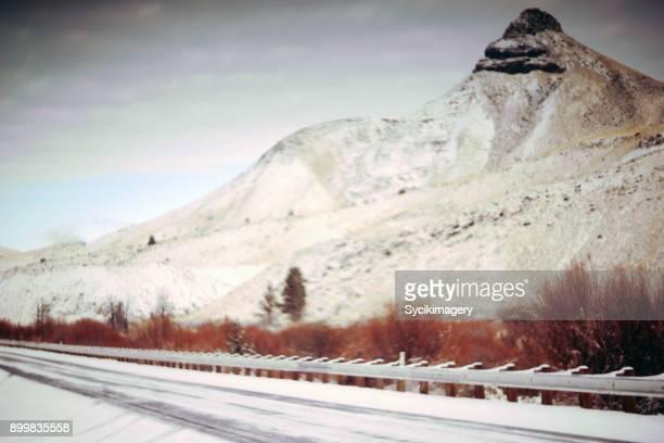 Rock formation along highway, Eastern Oregon