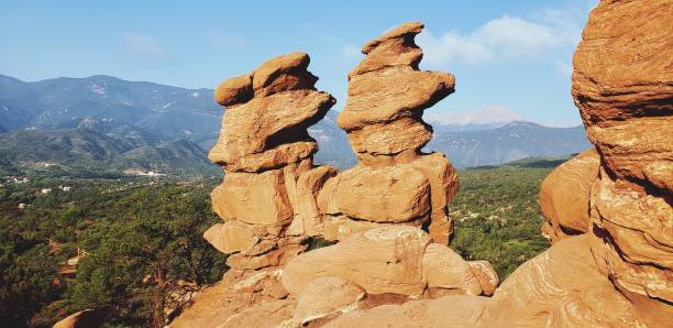 Rock Formation And Mountain Against Sky