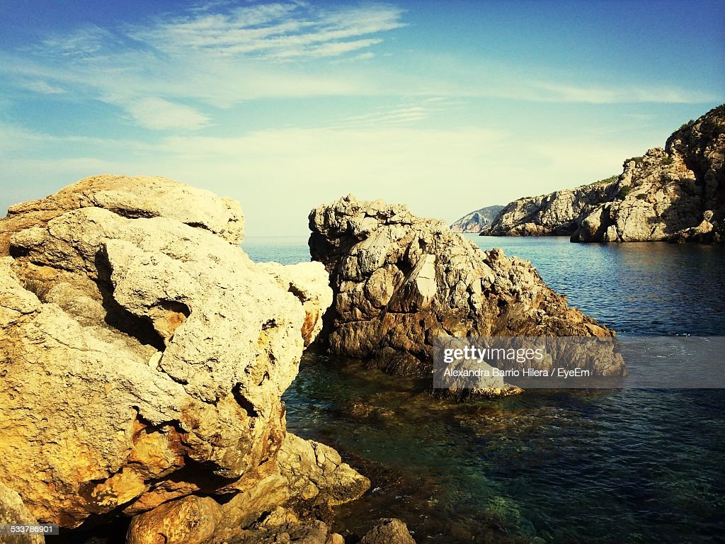 Rock Formation And Sea : Foto stock