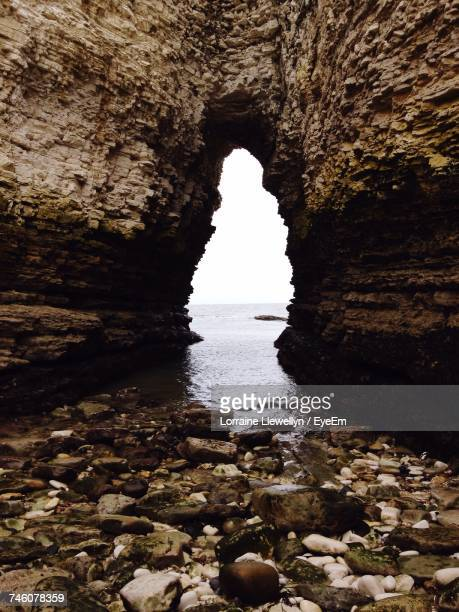 Rock Formation At Beach In Flamborough