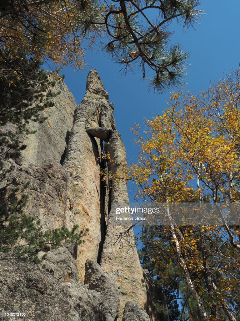 Rock Formation At Cathedral Spires, South Dakota : Stock Photo