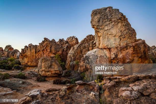 rock formation at cederberg wilderness area, south africa - wilderness area stock pictures, royalty-free photos & images