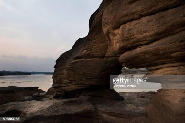 Rock formation at Sam Phan Bok