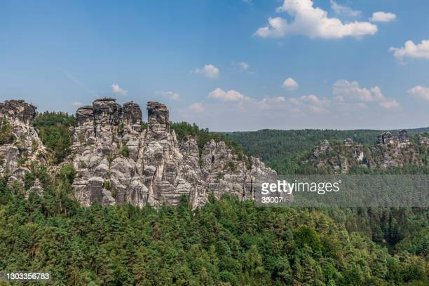 rock formation, germany - saxony stock pictures, royalty-free photos & images