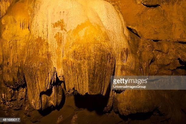 Rock formation in a cave, Borra Caves, Ananthagiri Hills, Araku Valley, Visakhapatnam, Andhra Pradesh, India.