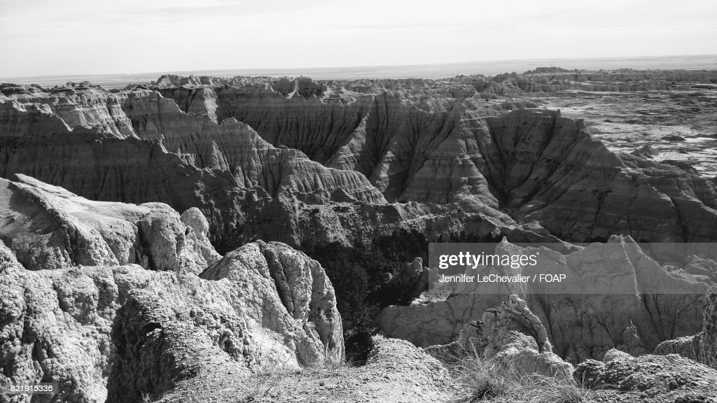 Rock formation in desert : Stock Photo
