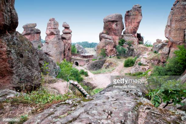 rock formation in the fortress of belogradchik - thessaly stock pictures, royalty-free photos & images