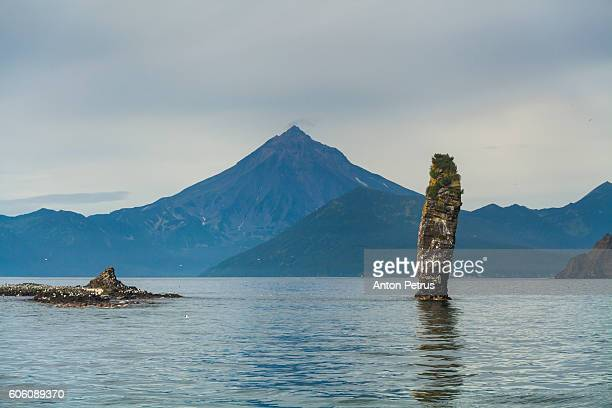 Rock formation in the Pacific Ocean. Kamchatka, Russia