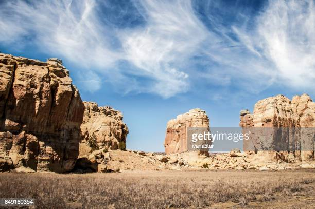 Rock formation near Acoma Pueblo, New Mexico