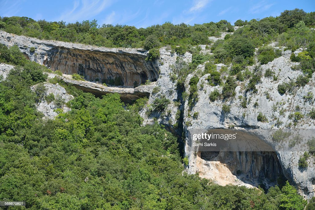 Rock formation of a canyon called Les Concluses : Stock Photo