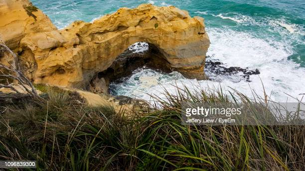 Rock Formation On Sea Shore