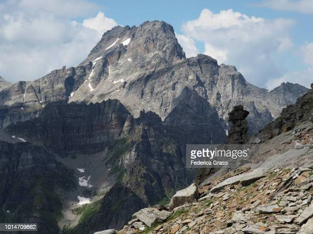 Rock Formation Vaguely Resembling A Hoodoo On Mt. Pizzo Diei