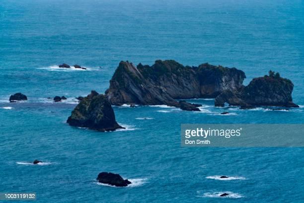 Rock Formations and Arch, Tasman Sea