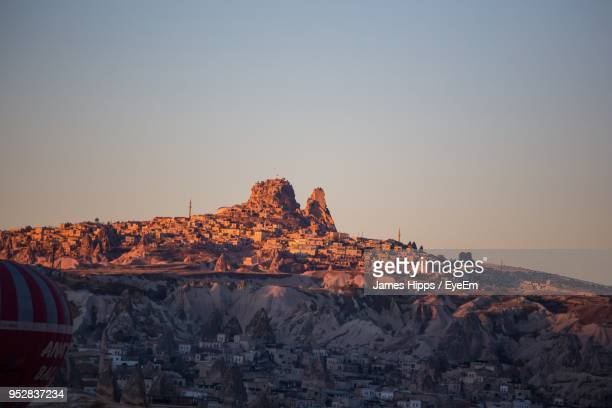 rock formations at sunset - central anatolia stock photos and pictures